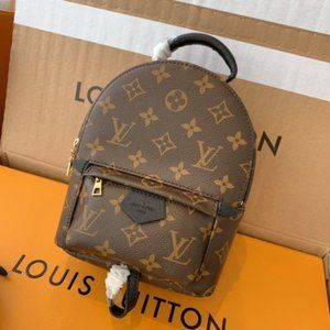 🌈NWT LV Palm Springs PM Mini Backpack Brown Canva